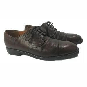 Salvatore Ferragamo Studio Pebble Brown Oxfords